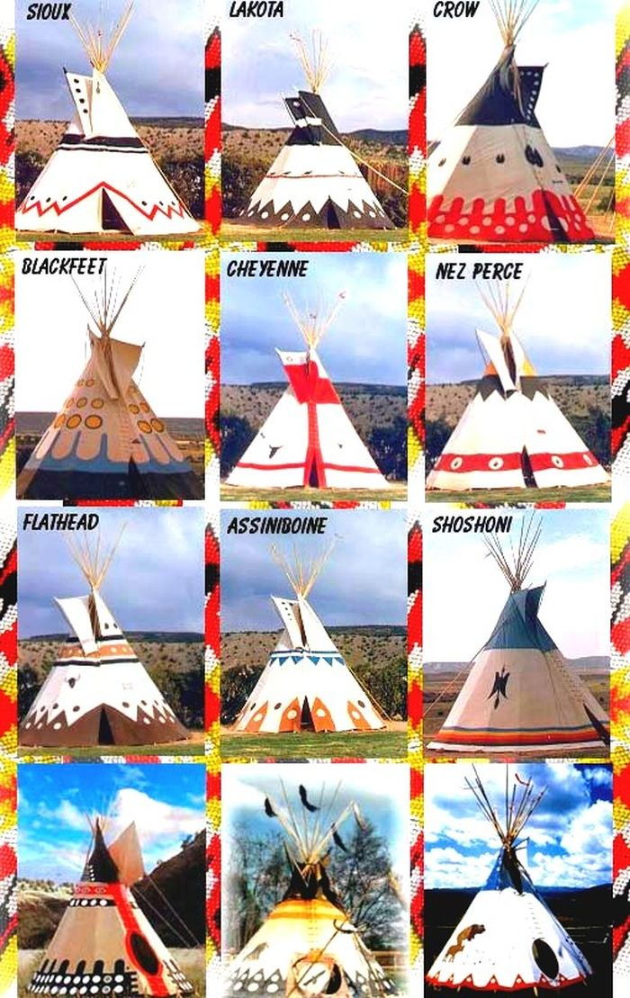 Photo of Tepee Designs of Native American Tribes