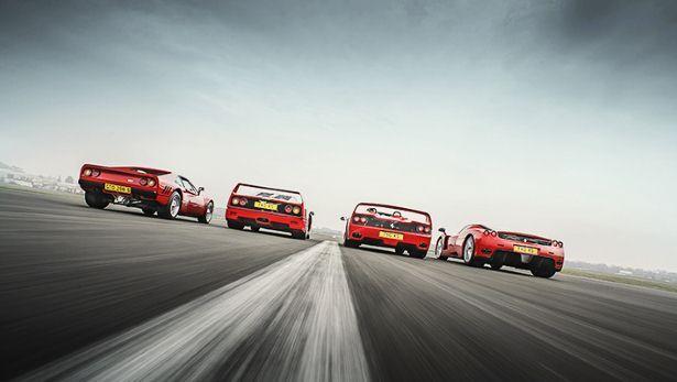 Is This The Ultimate Ferrari Group Test Bbc Top Gear Ferrari F40