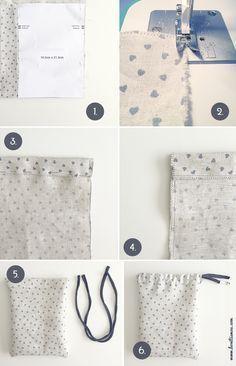 Iniciación a la costura: bolsa diy bonitista