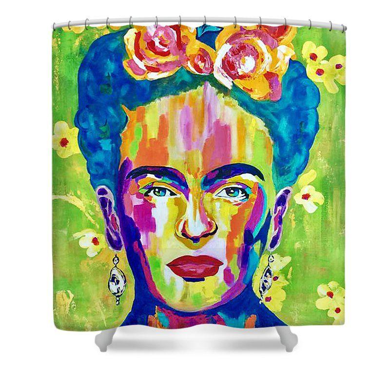 Frida Kahlo Press Shower Curtain For Sale By Kathleen Artist Pro