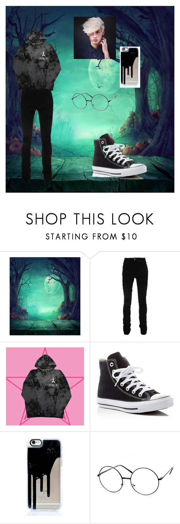 """boy out✌"" by smolbeanangel ❤ liked on Polyvore featuring AMIRI, Converse, men's fashion and menswear"