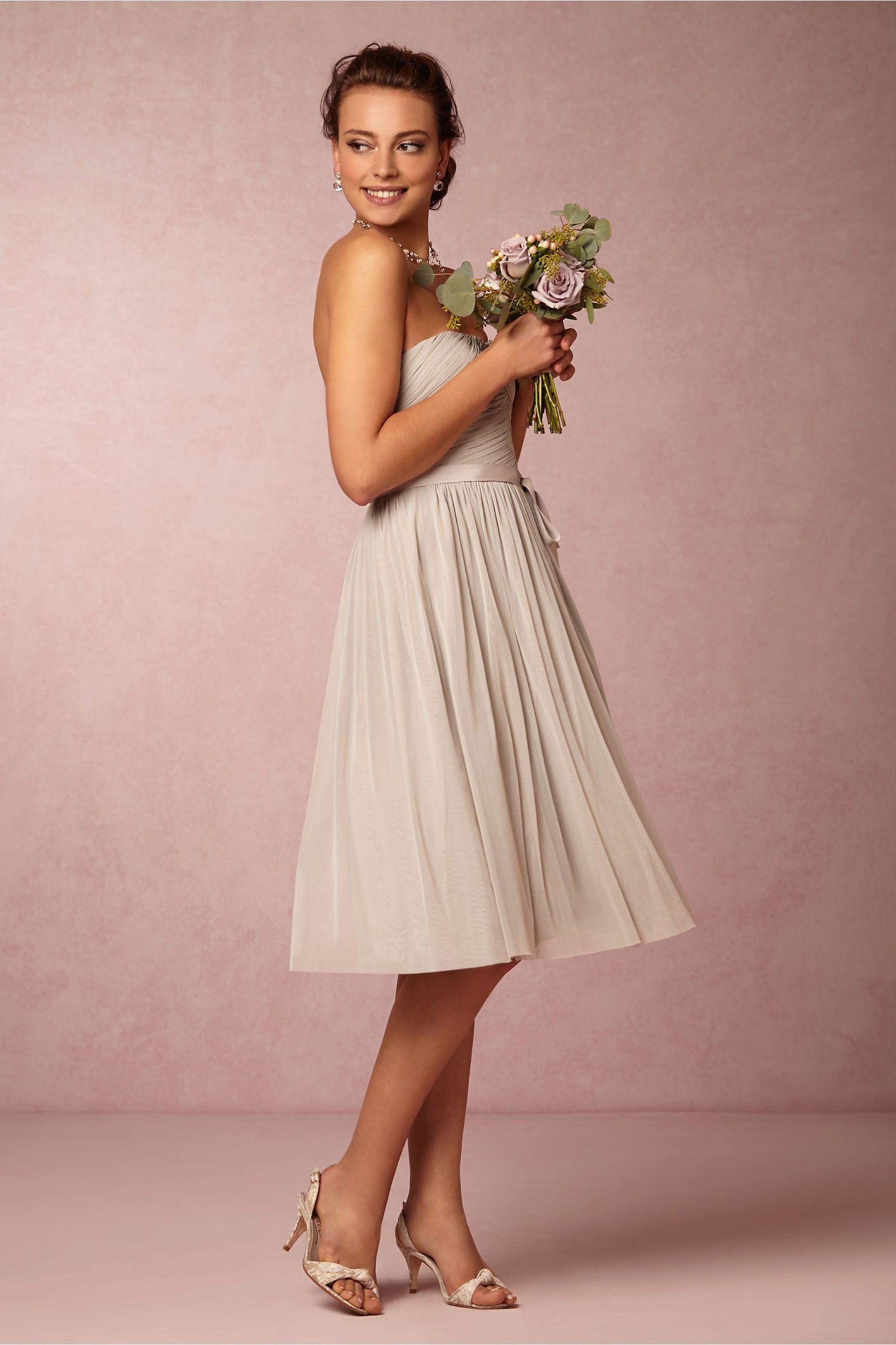 Cordelia Bridesmaids Dress In Dove Grey From Bhldn