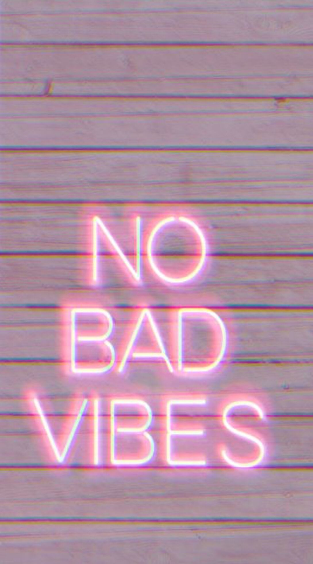 No Bad Vibes Neon Wallpaper Wallpaper Quotes Bedroom Wall Collage