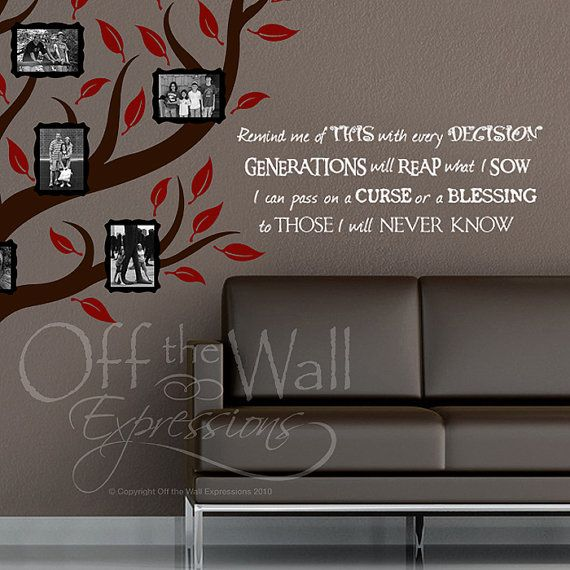 Generations Family Quote vinyl wall words by