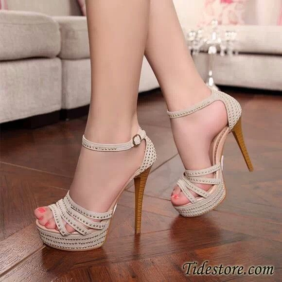 Beautiful grey party shoes