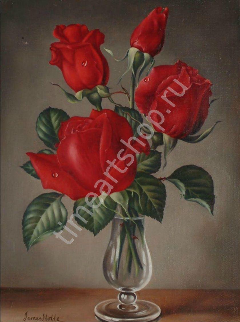 Картины своими руками из розы 640
