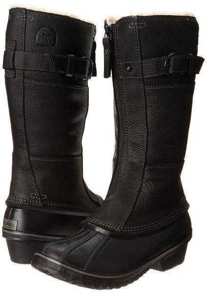 eabb87dca Sorel Women's Winter Fancy Tall II Boot,Black/British Tan,7.5 M US ...
