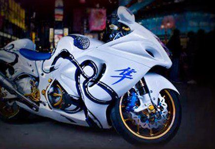 Merveilleux Http://www.el Tony.com/wp Content/uploads/2014/02/Moto Suzuki Hayabusa  Crystal City Bike 2014 Blue Neon Design By Tony Kokhan Www.el Tony.com_  ...