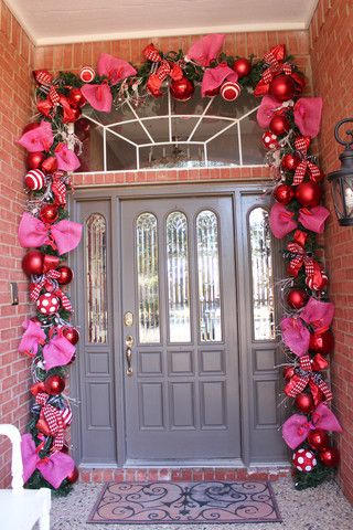 Valentines the season of LOVE decorate with Red, White, and Pink | Show Me  Decorating - Love Is Truly In The Air...Valentine Doorway How To Valentine's