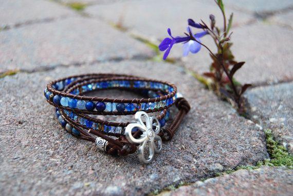 Chan Luu inspired wrap bracelets - Handmade gemstone and Czech cystals by BlendedbandsbySweetp, $25.00