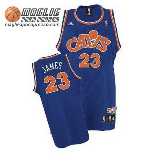 f1af4d60e72 Canotte Nba Segherie Classics Swingman James #23 Blu Cleveland Cavaliers  €22.9