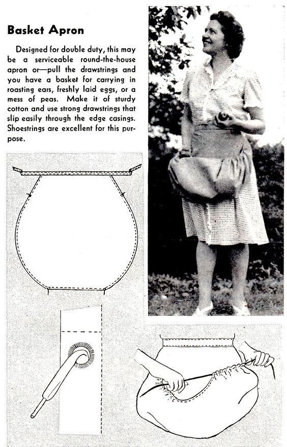 How to Sew a Basket Apron - Vintage Crafts and More:
