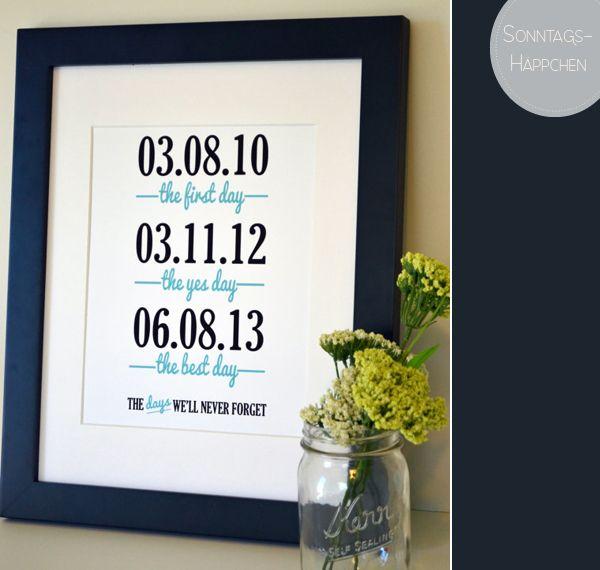 Erste Hochzeitstag Datum Ideen