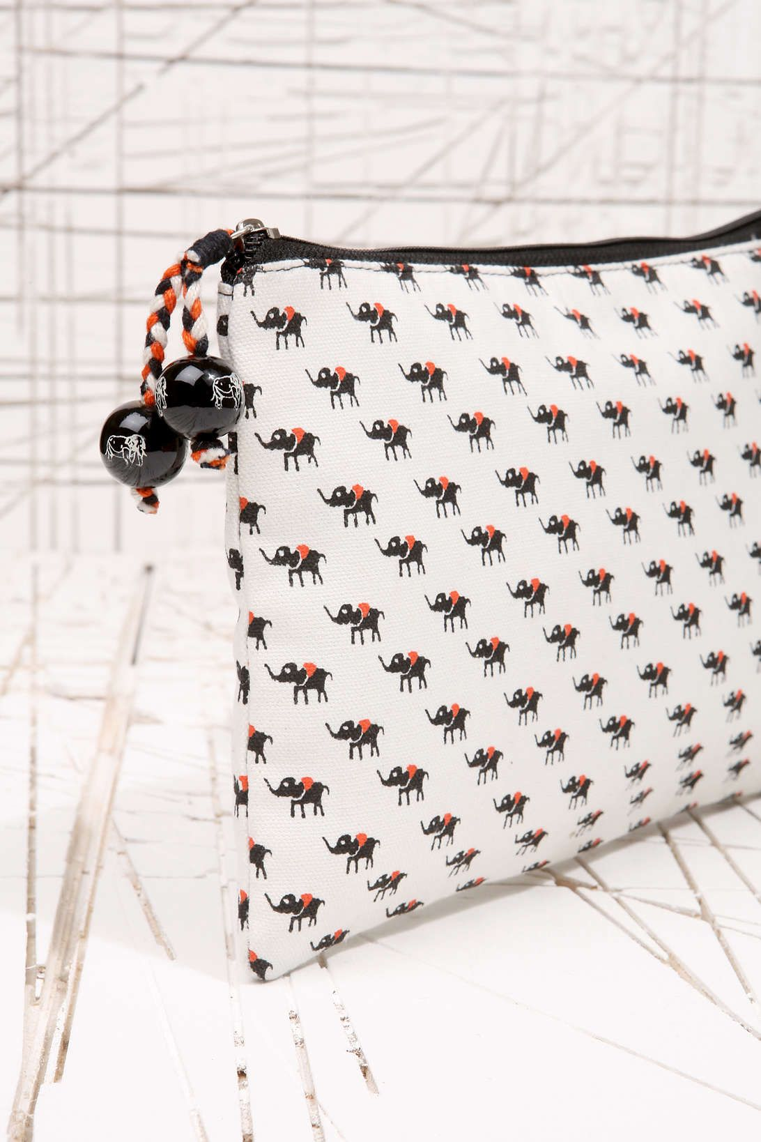 Elephant Print Cosmetic Bag at Urban Outfitters