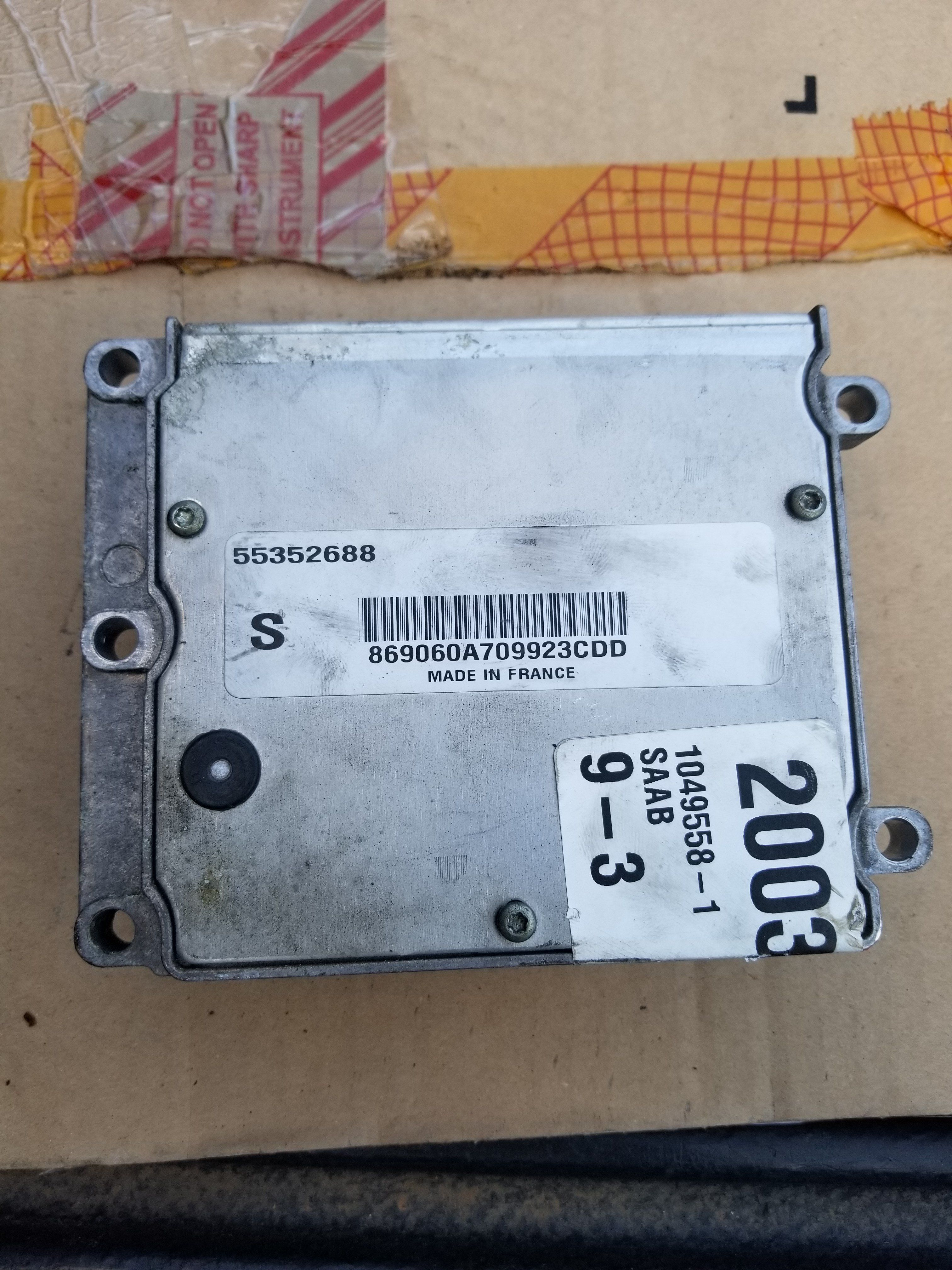 2003 2004 2005 2006 2007 SAAB 9-3 93 ECM ENGINE CONTROL MODULE