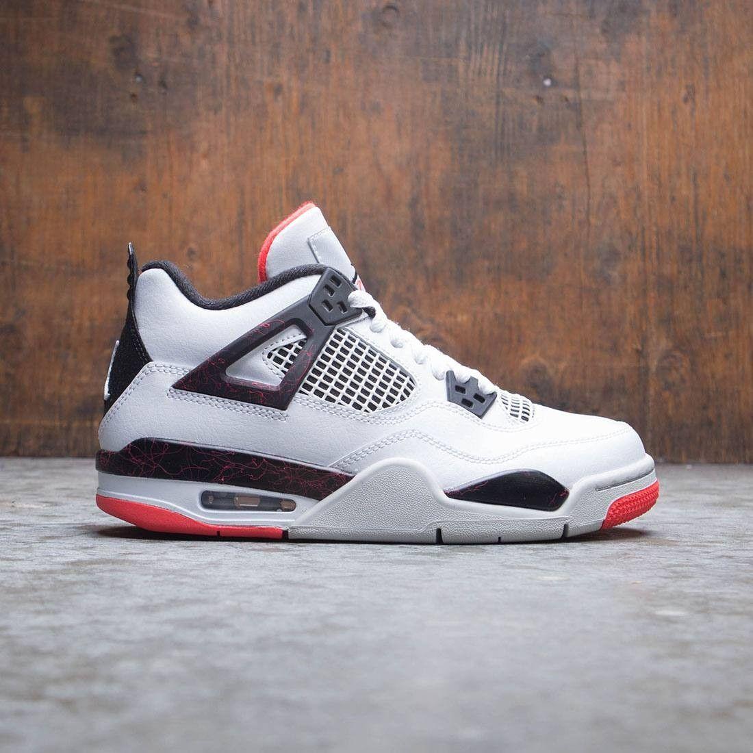 Air Jordan IV Retro (GS) Big Kids (white / black-bright crimson ...