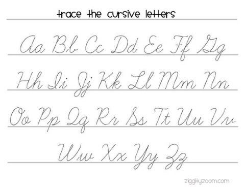 Cursive Writing Worksheets To Print Artedcursive Handwriting