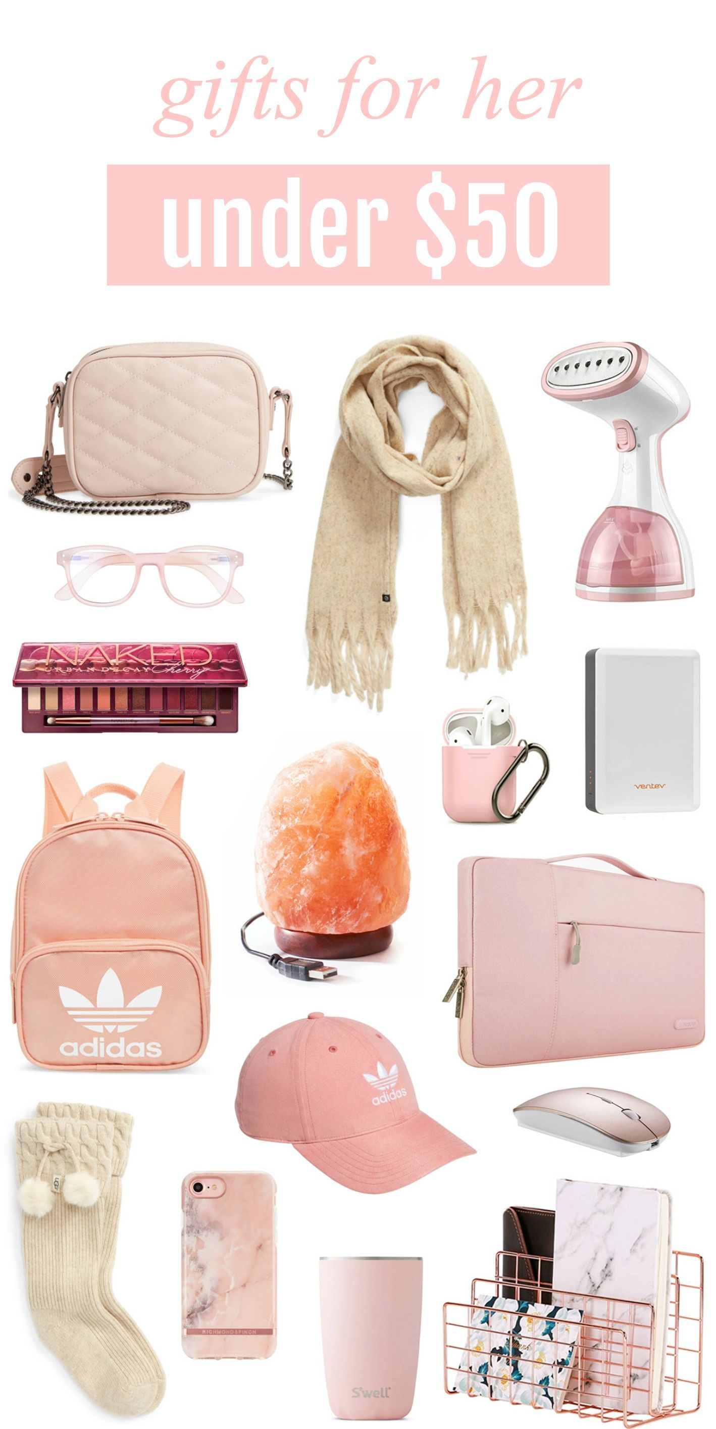 So Many Cute Ideas The Perfect Gifts For Every Woman In Your Life Are Under 50 And Include Adidas Gear Urban Decay Cherry Palette Salt Lamp