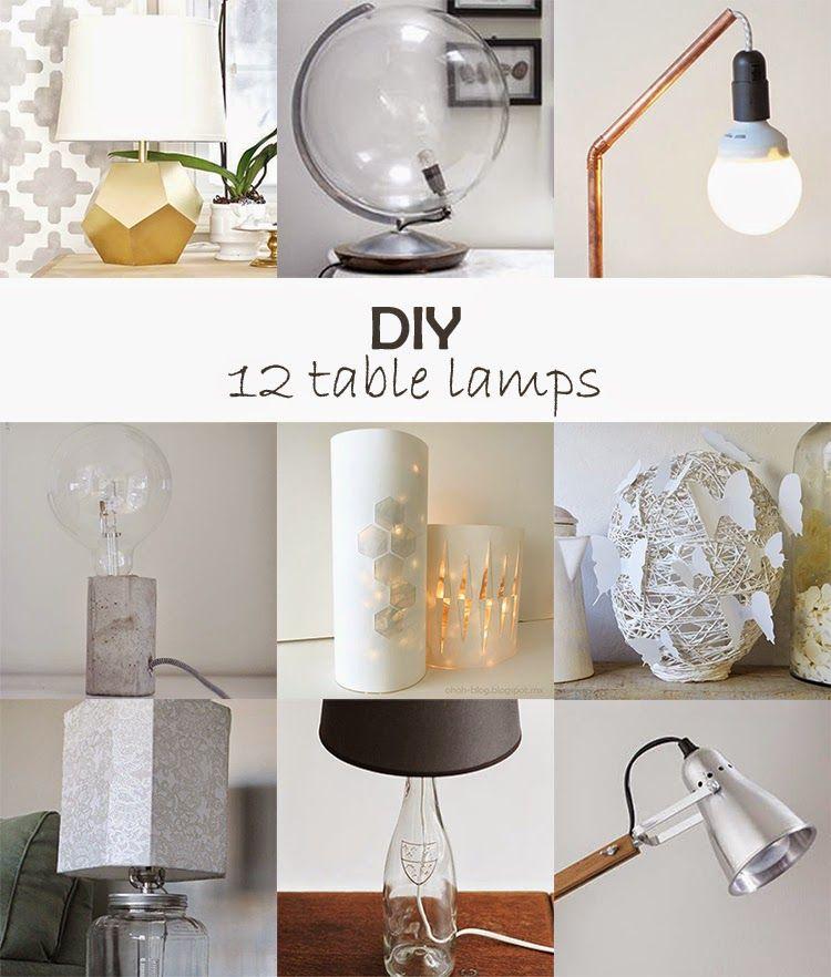 Ohoh Blog Diy And Crafts Diy Monday Table Lamps Diy Table Lamp Diy Table Diy Lamp
