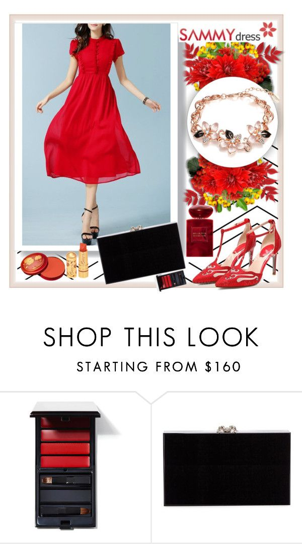 """""""Sammydress 28"""" by car69 ❤ liked on Polyvore featuring mode, Serge Lutens, Charlotte Olympia, Giorgio Armani et sammydress"""
