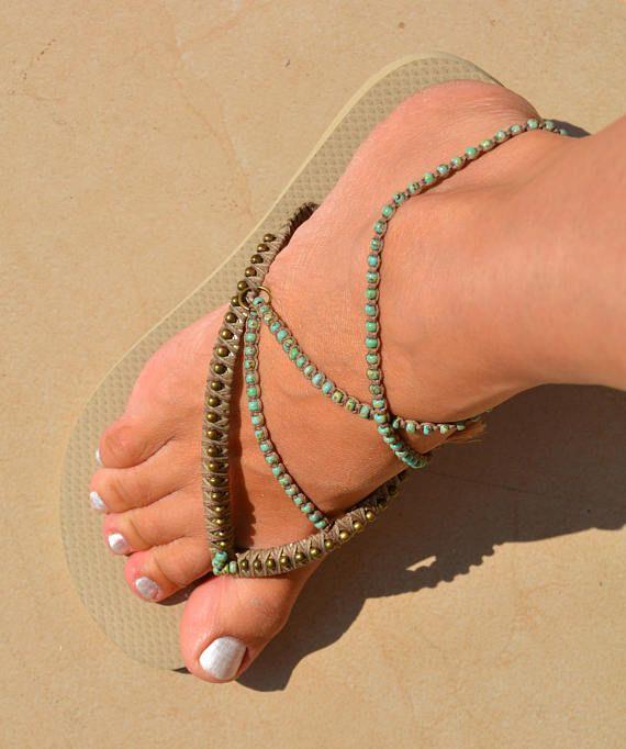 8ef9c324fd278e Turquoise   Bronze Boho Sandals