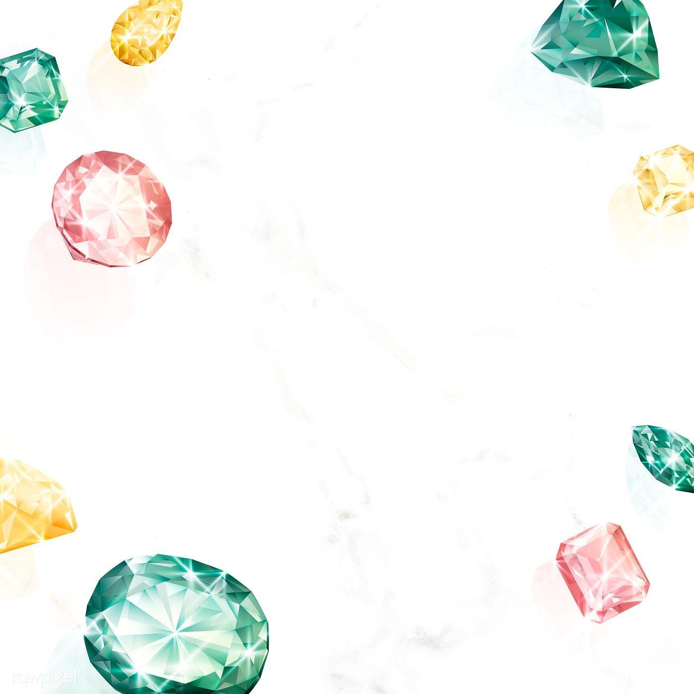 Colorful Crystal Gem Design Vector Premium Image By Rawpixel Com Aew Crystal Gems Crystals Medical Wallpaper