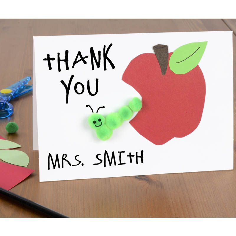 Thank you cards for kids to make for teachers easy kids for Thank you crafts for teachers