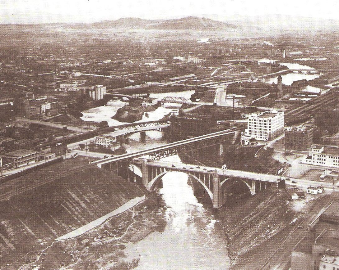 Spokane 1910 Spokane Washington Spokane River Carpet