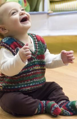 260441834 Baby s Holiday Vest   Socks Free Knitting Pattern from Red Heart ...