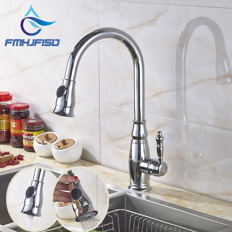 Wholesale and Retail kitchen Sink Mixer Faucet Chrome Polished with ...