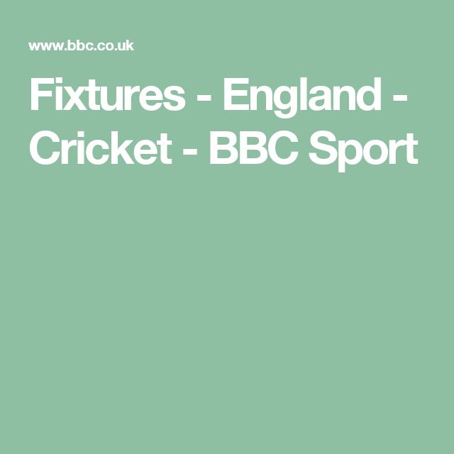 Fixtures - England - Cricket - BBC Sport   stumps