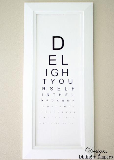 DIY Eye Chart Tutorial