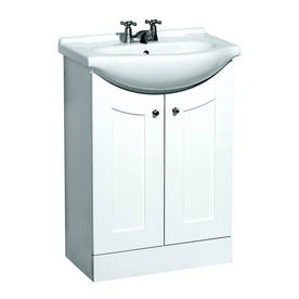 Shop Style Selections 4166 Euro Vanity Belly Bowl Single Sink Bathroom  Vanity With Vitreous China Top At Loweu0027s Canada. Find Our Selection Of  Bathroom ...