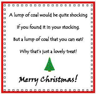 Friday Freebie #6 - Rice Krispie Coal | Christmas coal ...