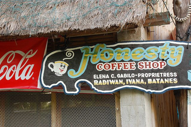 Honesty Cafe in Ivana Batanes / Honesty Coffee Shop is a