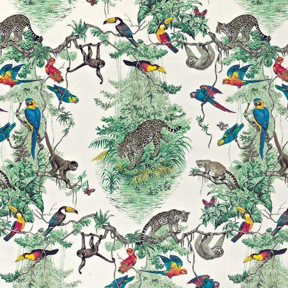 """Hermès """"Equateur Imprimé"""" in Zenith Jungle wallpaper"""