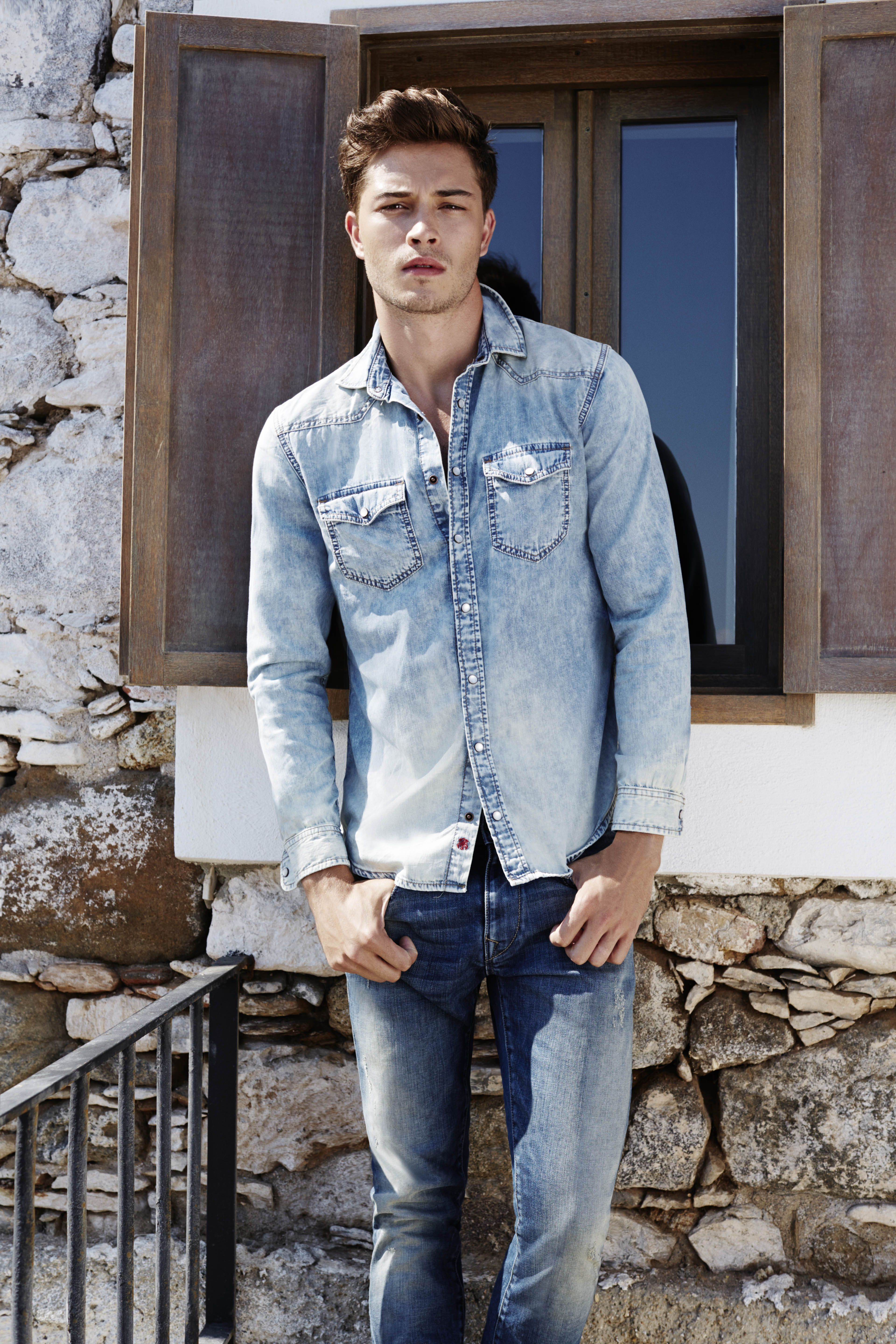 Mens Nick Denim Jacket Mavi Countdown Package Cheap Online Visa Payment Sale For Sale Low Shipping Fee Online ULM8NfPkC
