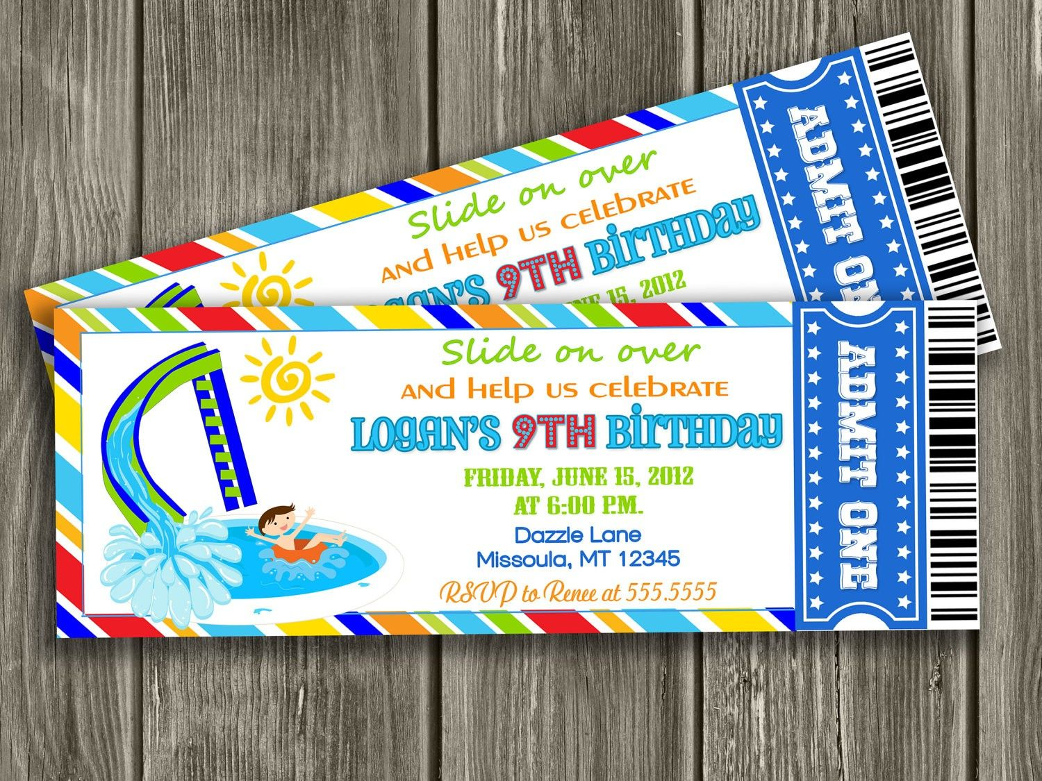 Pool Party Ticket Invitation Template – orderecigsjuice.info