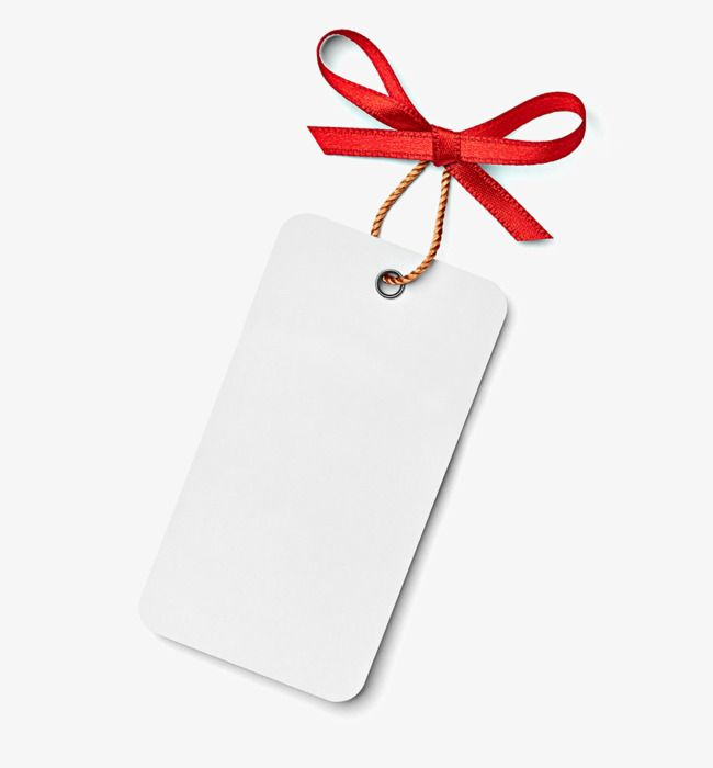 Red Bow On White Tag Blank Template Blank Bow Template Png