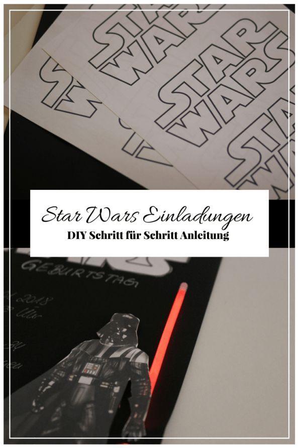 Schön DIY   Star Wars Einladungen Basteln Für Den Star Wars Kindergeburtstag | Star  Wars Kindergeburtstag | Pinterest | Einladung Basteln, ...