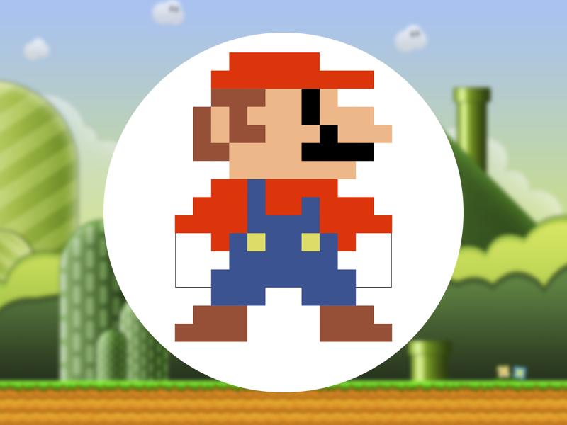 Pixel Mario Avatar By Axellvak Super Mario Art Mario Super Mario Bros Party