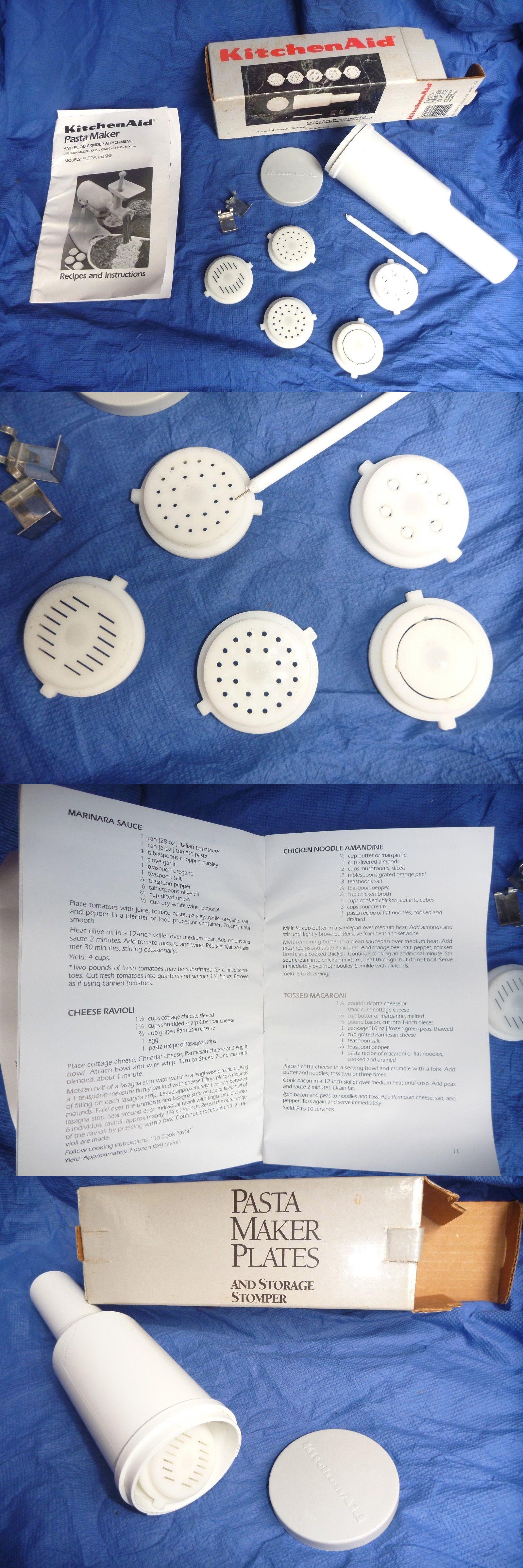 Pasta Makers 20680 Kitchenaid Mixer Pasta Maker Plates Dies W