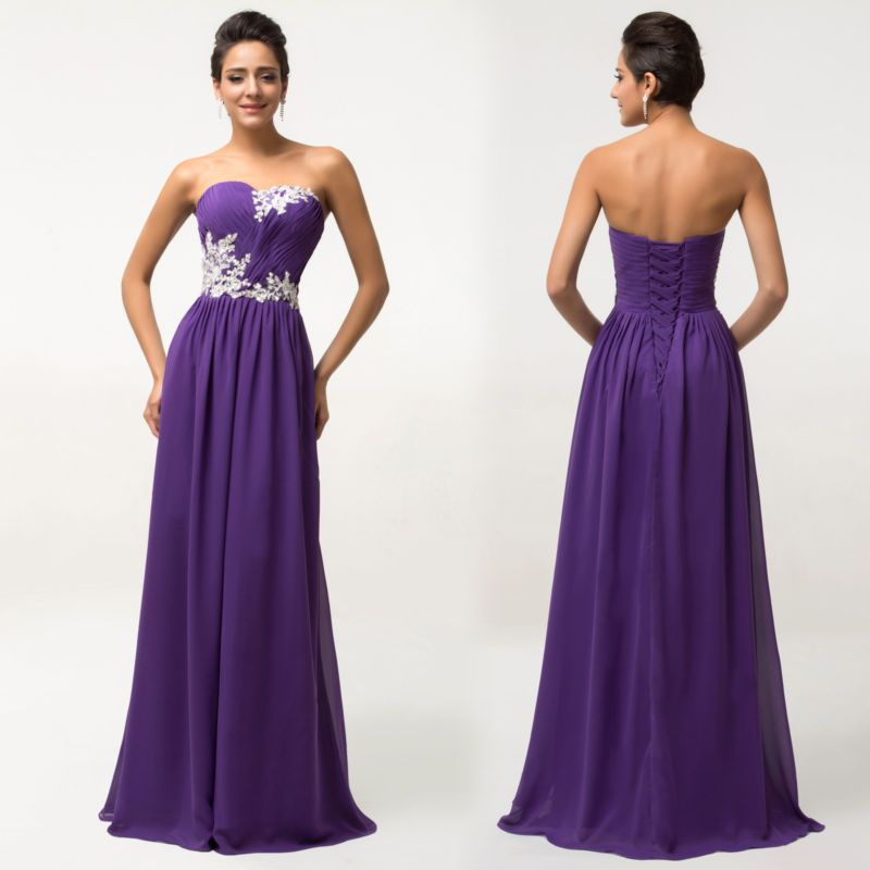 Plus Size Long Dress BEADED Prom Evening Gown Ball Party Bridesmaid ...