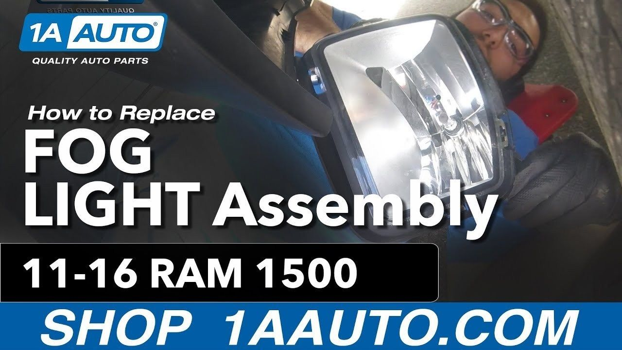 How to Replace Install Fog Light Assembly 1317 Ram 1500