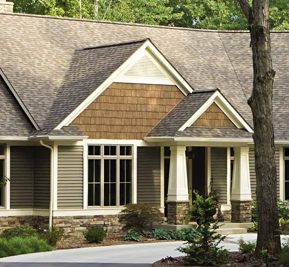 Tuscan Olive Siding Front Porch Pinterest Craftsman