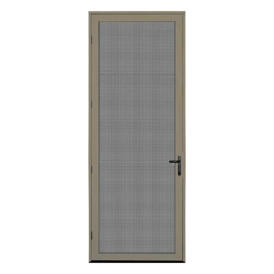 Unique Home Designs 36 In X 96 In Desert Sand Surface Mount Left Hand Ultimate Security Screen Door With Meshtec Screen 5v0002em2ds00b Security Screen Door Screen Door Unique House Design