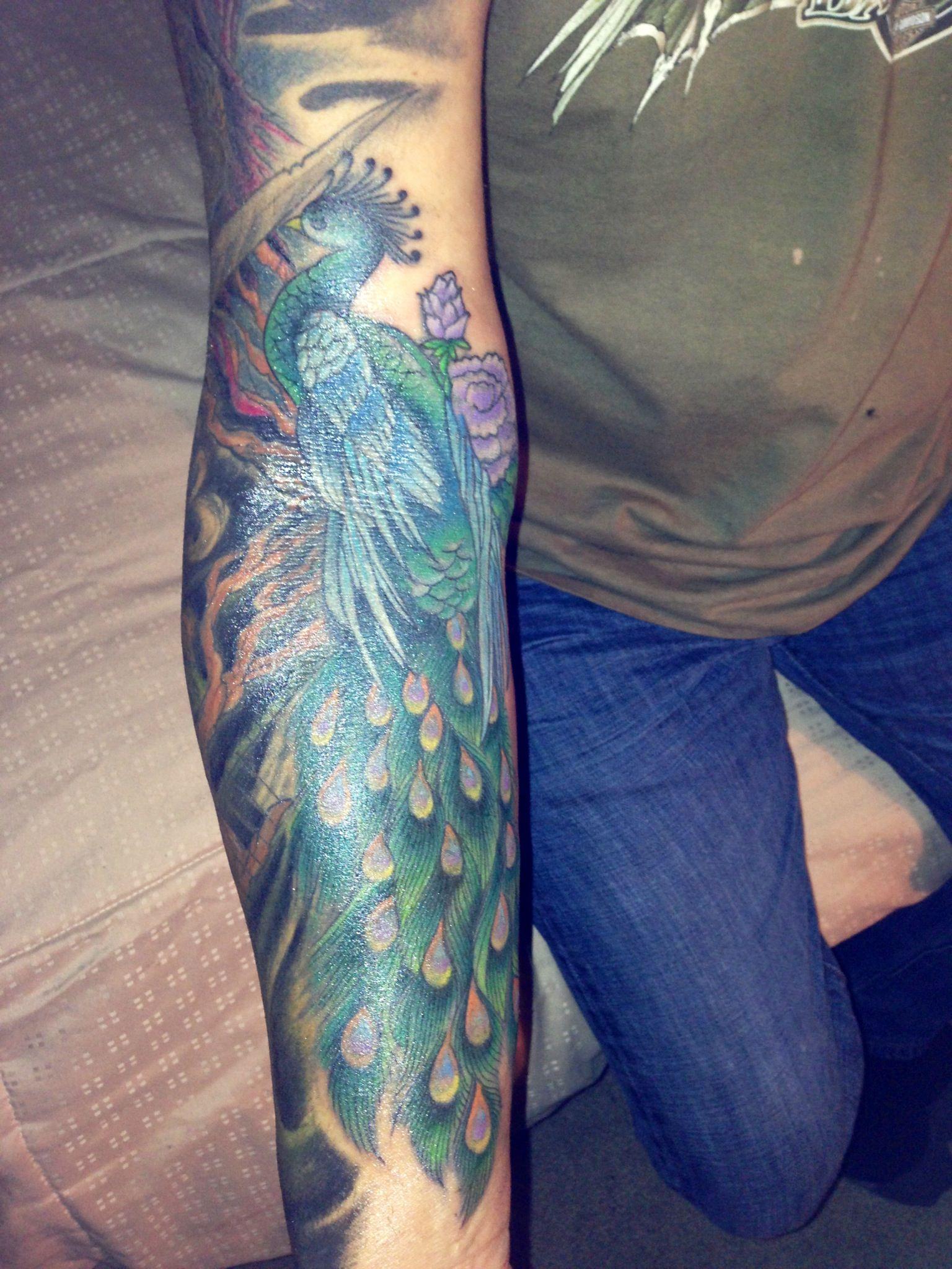 Rapper Cardi B Peacock Tattoo: Tattoo - Mostly Peacock