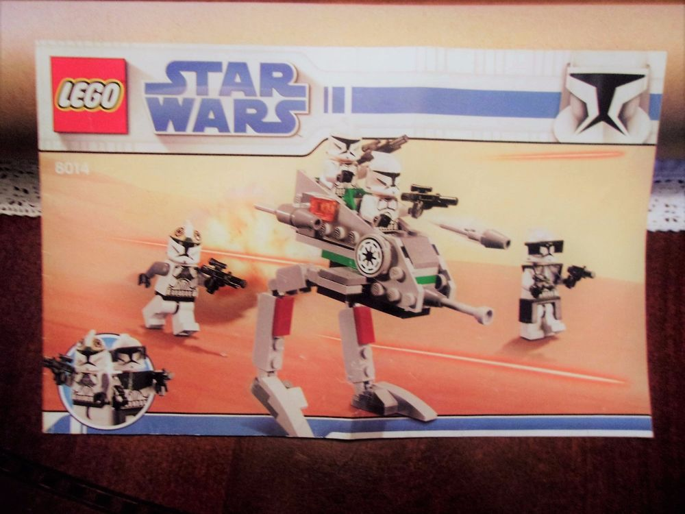 Lego Star Wars 8014 Clone Walker Battle Pack Instruction Manual Only