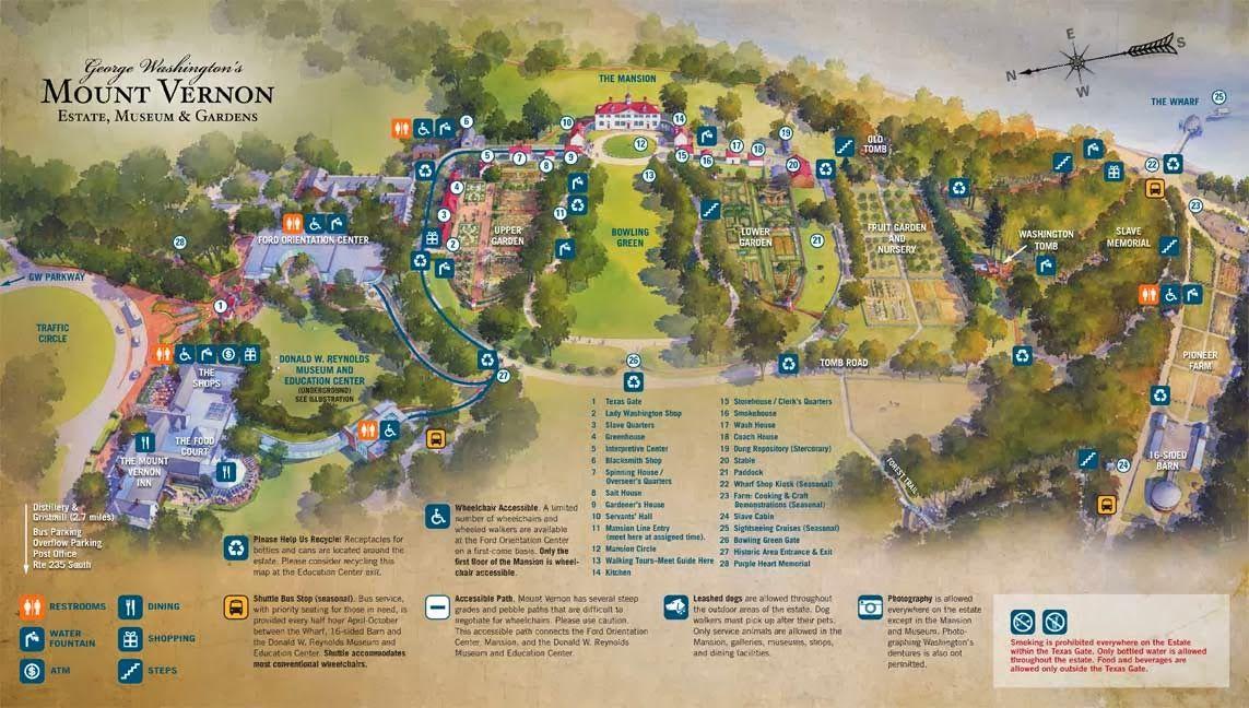 Mount Vernon Estate Map George Washingtonu0027s