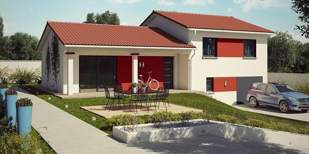 Feroe Moderne Tuiles Rouges Construction Villa Demeure Etage Moderne Feroe Tuiles Rouges Plan De Maison Neuve Plan Maison Maison